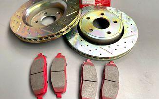 Front Performance Brake Kit, WK, XK (52089269ABKIT / JM-05715 / Terrafirma)