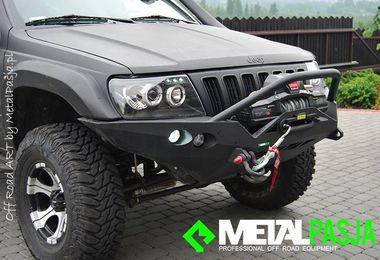 Front Recovery Winch Bumper, Ironman, WJ (JM-03053 / MetalPasja)