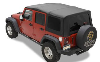 Replace-A-Top Soft Top, Black Twill, JK 4 Door (10-17) (79847-17 / JM-03363 / Bestop)