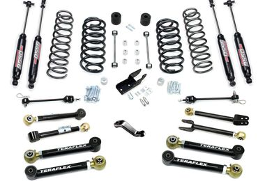 "4"" Lift Kit w/ Flexarms & 9550 Shocks, TJ (1656452 / JM-04198 / TeraFlex)"