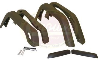 6 Piece Fender Flare Kit - TJ (55254918K6 / JM-03400 / Crown Automotive)