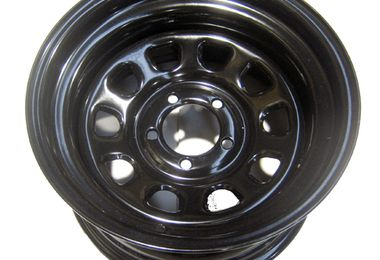 "Steel Wheel 15"" x 8"" Black (345-SB / JM-01908 / RT Off-Road)"