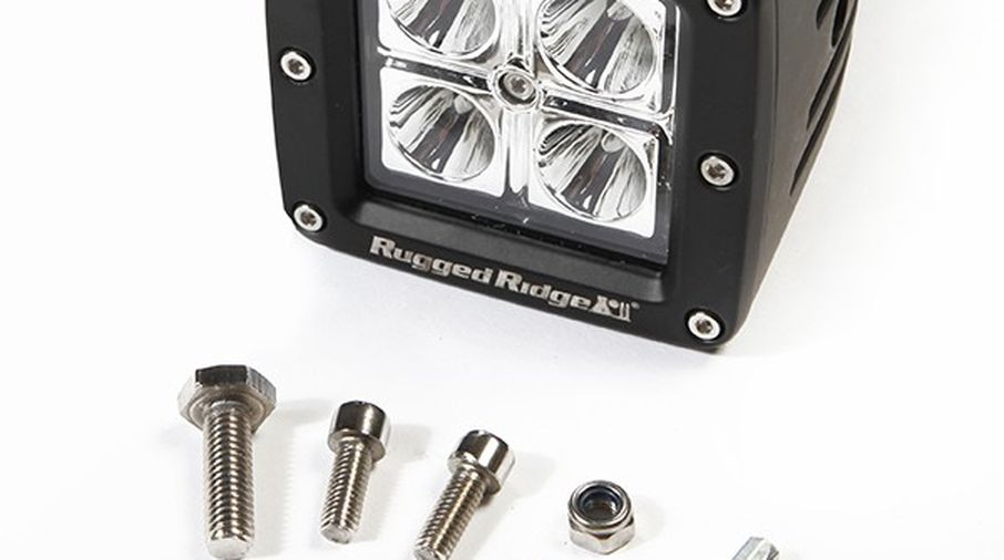 "3"" Square LED Driving Light (15209.03 / JM-02759 / Rugged Ridge)"