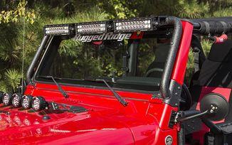 """Windshield LED Light Bar Kit, 3 x 13.5"""" Combo Lamps, TJ (11232.29 / JM-04300 / Rugged Ridge)"""