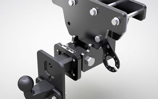 Trailer hitch with height adjustable ball mount, JK (E Marked) (688.97 / JM-05804 / DuraTrail)