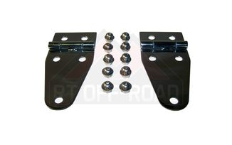 Hood Hinges (Stainless), YJ & CJ (488402 / JM-01384 / RT Off-Road)
