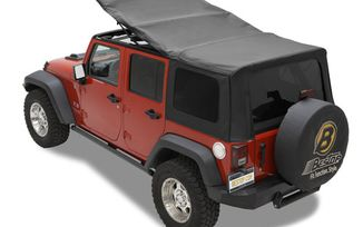 Replace-A-Top Soft Top, Black Twill, JK 4 Door (07-09) (79837-17 / JM-03360 / Bestop)