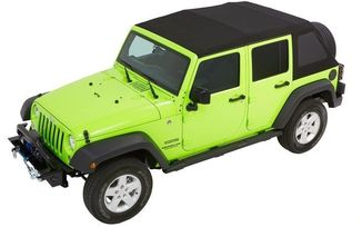 Trektop NX Glide Soft Top, JK 4 Door, Black Diamond (54923-35 / JM-03950 / Bestop)