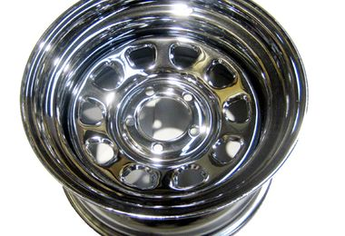 "Steel Wheel 15"" x 8"" Chrome (345SC / JM-02488 / RT Off-Road)"