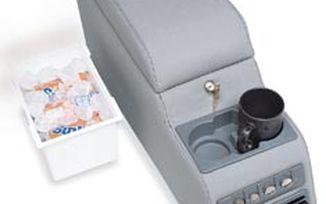 Deluxe Locking Center Console (Black Denim) (CLC10015/RT27009 / JM-01964 / Crown Automotive)