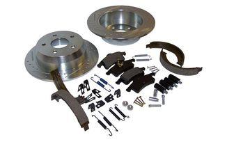 Performance Brake Kit (Rear; Drilled & Slotted) WJ (RT31034 / JM-01342 / RT Off-Road)