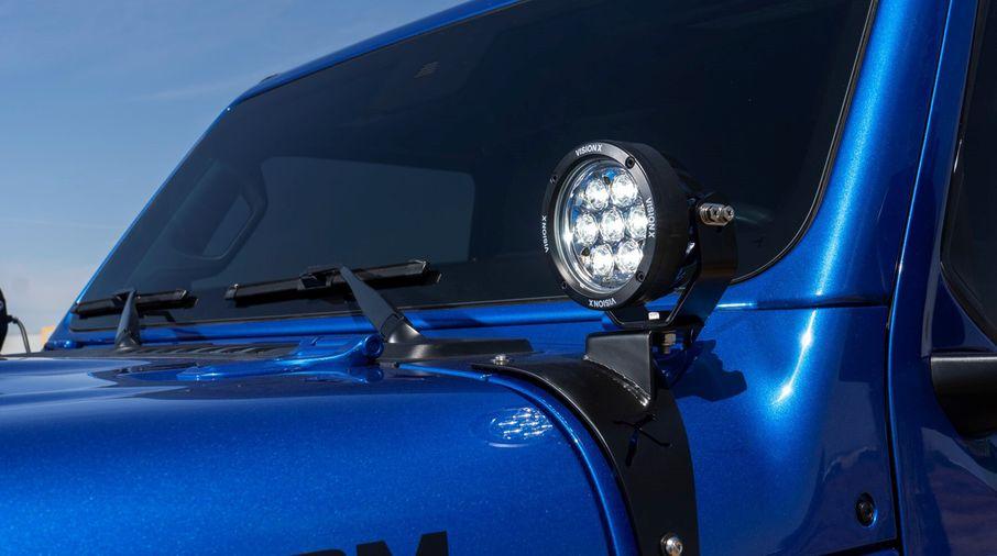 """Pillar Light Kit (With 4.7"""" CG2 Multi LED Light Cannon), JL, JT (XIL-OEA18JLCPM710 / JM-05323 / Vision X lighting)"""