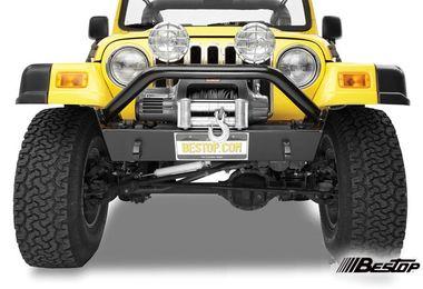 Front Recovery Bumper, Narrow HighRock 4x4, TJ (42930-01 / JM-01179 / Bestop)