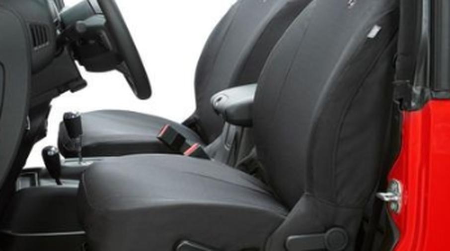 Front Seat Covers, Wrangler JLU, Black Diamond (2929035 / JM-05105 / Bestop)
