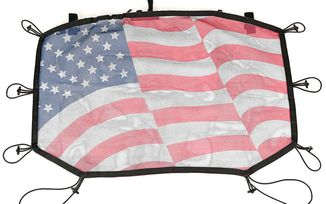 Hardtop Sun Shade, Front, Flag, JK (13579.20 / JM-02661 / Rugged Ridge)