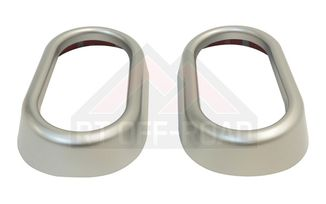 Door Handle Accents (Brushed Silver) (JKS6340 / JM-01534 / RT Off-Road)