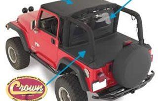 Cover All Kit (92/95 YJ), Black Denim (CA10215 / JM-00195 / Crown Automotive)