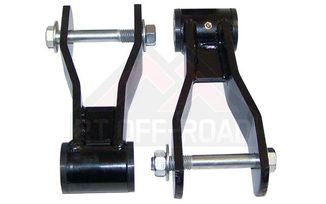 HD Greasable Lift Shackle Kit, XJ (52000507KHD / JM-00549 / RT Off-Road)
