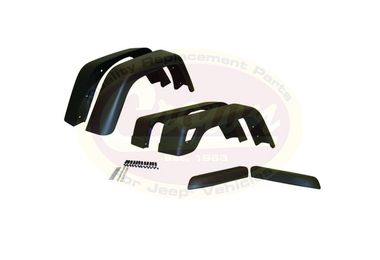 Extended Fender Flare Kit (6 Piece) (55254918K76 / JM-00614 / Crown Automotive)