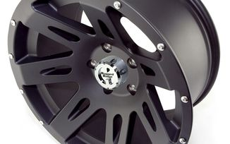 XHD Aluminum Wheel, Black Satin, 17X9, JK (15301.01 / JM-02177 / Rugged Ridge)