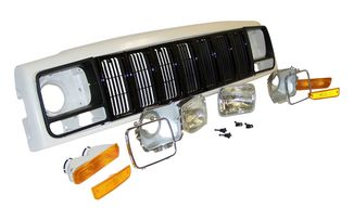 Header Panel Kit, Black (XJ 97-01) (55055233AEK / JM-03227 / Crown Automotive)