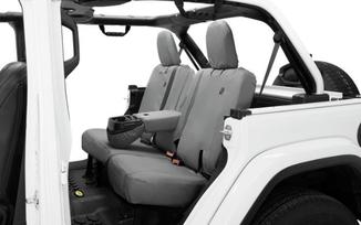 Rear Seat Covers, JLU, Black Diamond (2929135 / JM-05106 / Bestop)