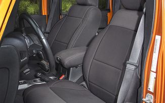 Neoprene Front Seat Covers, Black, 11-16 (13215.01 / JM-03064 / Rugged Ridge)