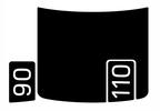 Bonnet Decal, Defender (2020+) (VPLEB0438LR / SC-00249 / Britpart)