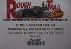 """2"""" Spacer Lift Kit (Grand Cherokee WJ) (RT21037 / JM-00231 / RT Off-Road)"""