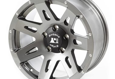 XHD Aluminum Wheel, Gun Metal, 17X8.5 (ET+10), JK / JL (15301.61 / JM-04672 / Rugged Ridge)