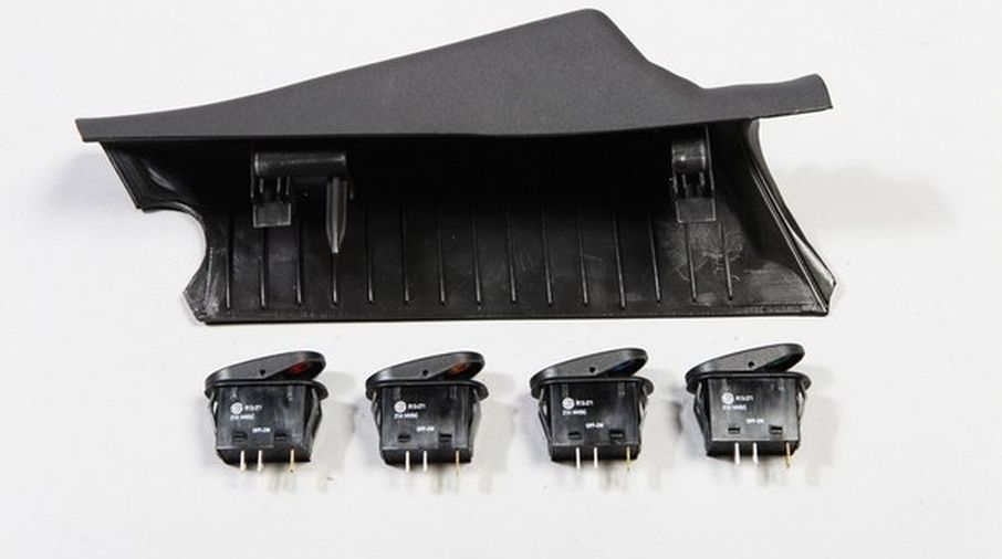 A-Pillar 4 Switch Pod Kit, Left Pillar (TF4111/17235.96 / JM-05811 / Rugged Ridge)