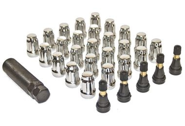 Anti Theft Wheel Nut Set (25 Piece), Chrome (A11184 / JM-04803 / Pro Comp)