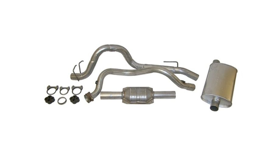 Exhaust Kit (Wrangler) YJ 4.0L (52018176K / JM-01426 / Crown Automotive)