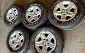 "USED - 5 x 16"" 60 Anniversary Alloy Wheels with Tyres (JMU-00050 / Jeepey Used Parts)"