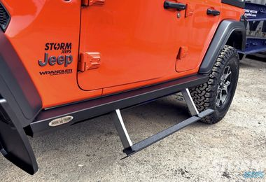 Rock Slider Auto Deployable Step, JL 4 door (BD-SS-200-JL4 / JM-04681 / Rock Slide Engineering)