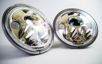 "7"" Vortex LED Headlights x 2 (Chrome) RHD (XIL-7RERKIT / JM-02800 / Vision X lighting)"
