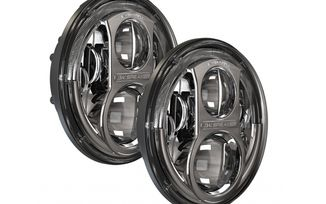 "7"" LED Headlights, 8700 Evolution 2 (Chrome) (11JUKCJKIT / JM-03004 / J.W. Speaker)"