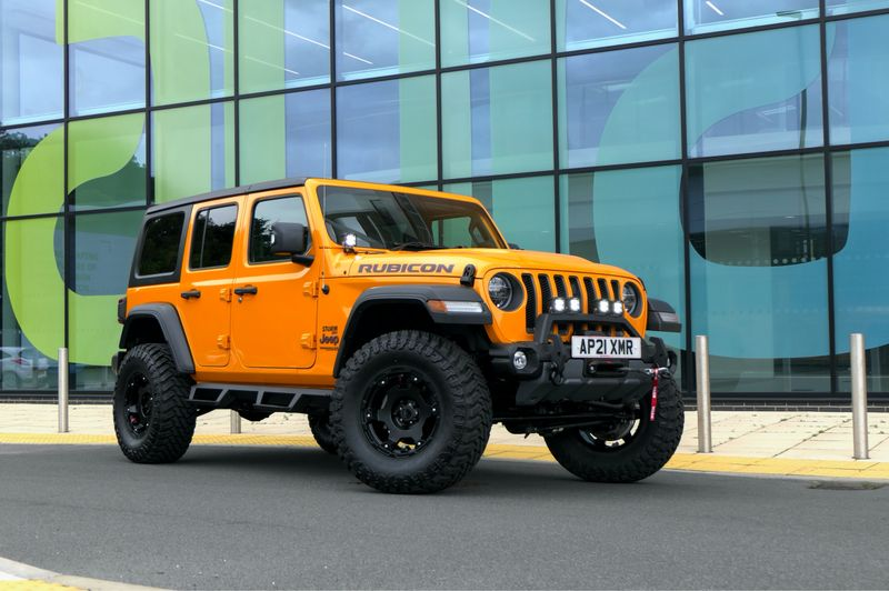 STORM-49, 2021 Nacho Orange Jeep Wrangler JL Rubicon 4 Door 2.0L