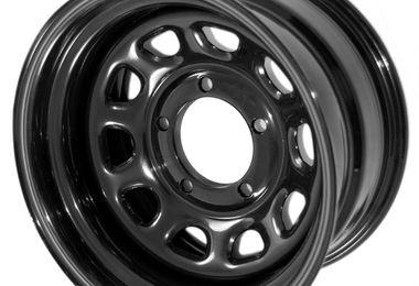 """Steel Wheel 15"""" x 8"""" Black, CJ (15500.10 / JM-02224 / Rugged Ridge)"""