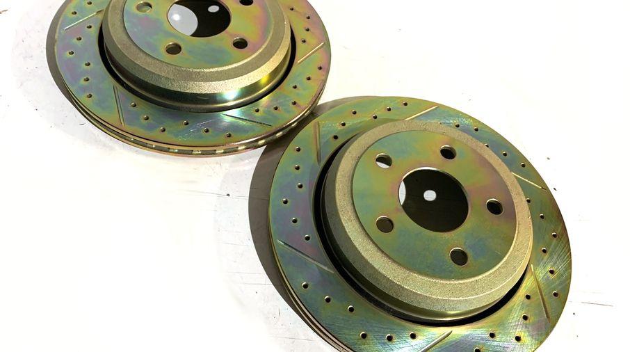 Rear Performance Brake Disc / Rotor (Pair), 330mm, WK2 (J4BM47524 / 68035022 / JM-05391/K / Terrafirma)