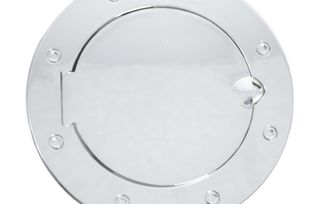 Gas Cap Door, Non-Locking, Chrome; JK (11425.03 / JM-03437 / Rugged Ridge)
