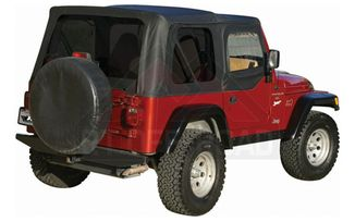 Replacement Soft Top, Black Denim (Tinted Windows) (RT10115T / JM-00218 / RT Off-Road)