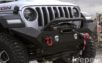 Front Recovery Bumper, Spartan High Clearance with Overrider; JL, JT (11548.41 / JM-03976 / Rugged Ridge)