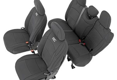 Seat Covers (JL Wrangler 4 Door) (RC91010 / JM-03932 / Rough Country)
