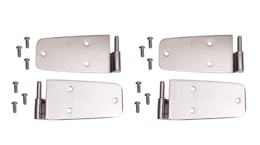 Door Hinge Kit, Stainless, 76-93 CJ & Wrangler (11113.01 / JM-04825 / Rugged Ridge)