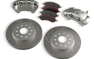 Front Big Brake Kit w/ Slotted Rotors, JK (4303420 / JM-04697 / TeraFlex)