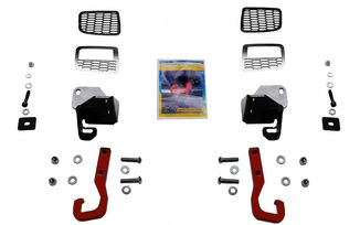 Red Tow Hook Kit, Front, Renegade Trailhawk (JR1012 / JM-04543 / Rock's 4x4)