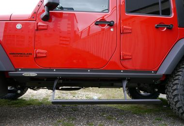 Rock Slider Auto Deployable Step, JK 4 door (BD-SS-100-JK4 / JM-04174/OS / Rock Slide Engineering)