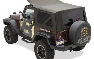 Replace-A-Top Soft Top, Black Twill, JK 2 Door (07-09) (79836-17 / JM-03710 / Bestop)