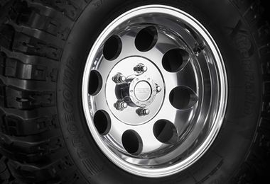 Polished Alloy Wheel, 15x8 (1430.22 / JM-02939 / DuraTrail)